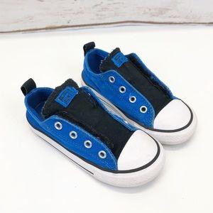 Toddler Converse Blue Velcro Low Tops Sz 9